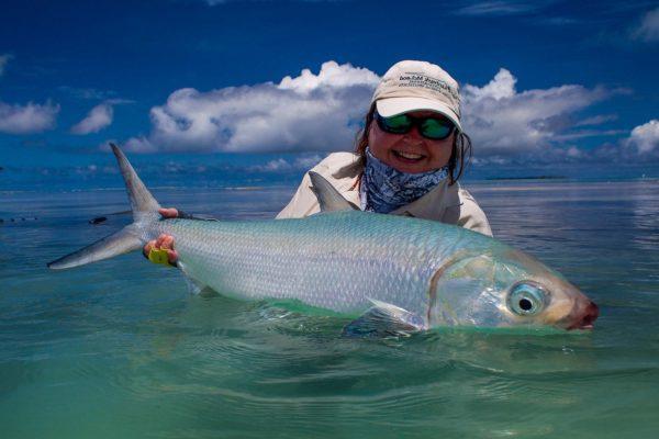 Alphonse Island, Seychelles, milkfish, fishing