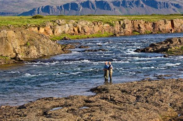 Langa, salmon fishing, Iceland, Iceland Guide