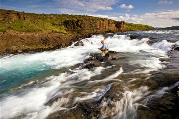 Langa, salmon fishing, Iceland, Iceland Guide