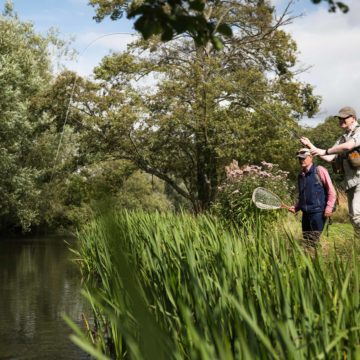 River Nadder chalkstream fly fishing, Aardvark McLeod chalkstream fly fishing