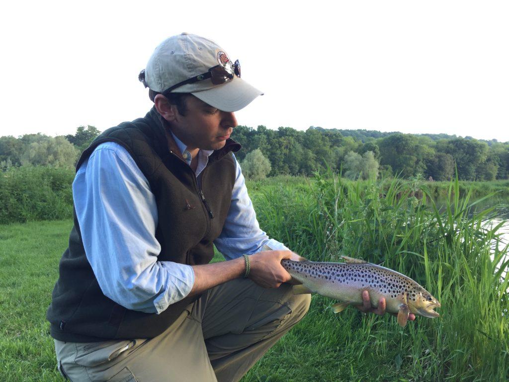 River Nadder chalkstream fly fishing, Aardvark McLeod chalkstream fly fishing