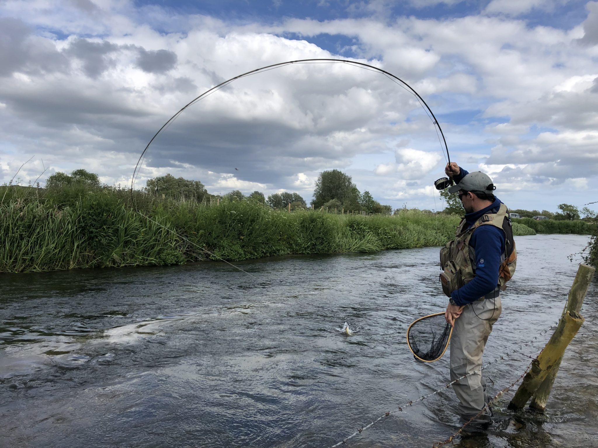 River Frome Chalkstream fly fishing, Dry Fly Fishing, Alex Jardine, Aardvark McLeod Dry Fly Fishing