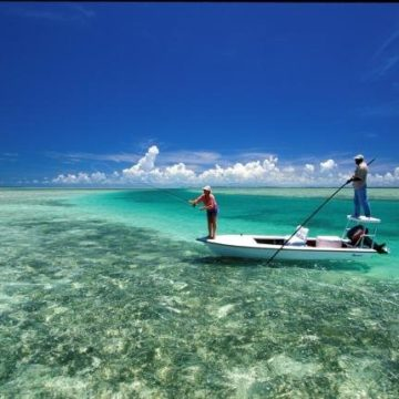 Bonefishing, Kamalame Cay, Andros Island, The Bahamas