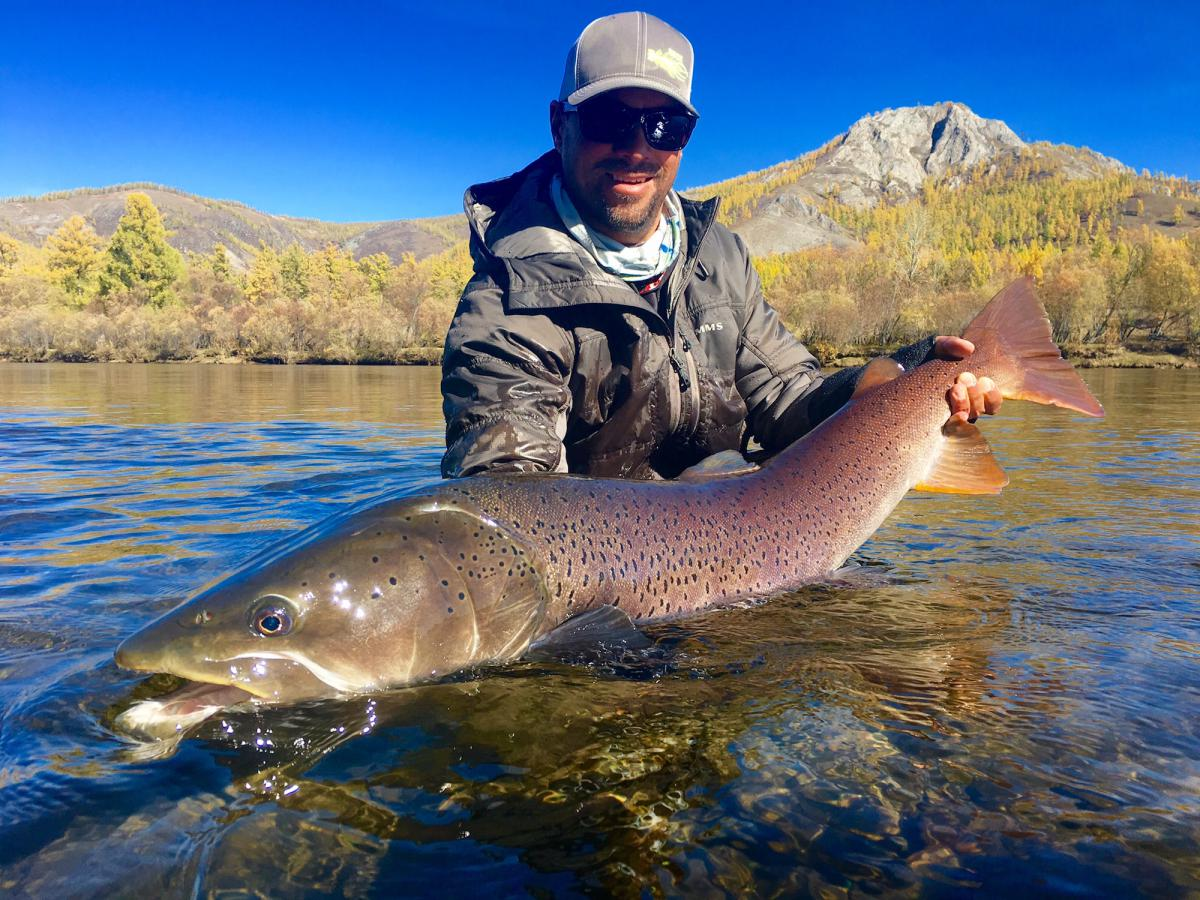 Mongolia 21 years of taimen on the fly with sweetwater for Fly fishing mongolia