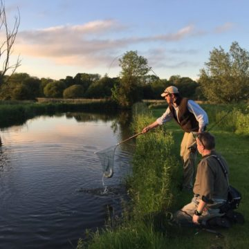 UK Fishing, Chalkstream, River Nadder, Trout fishing