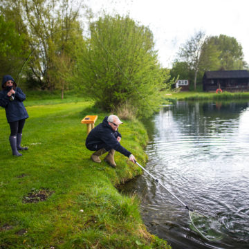 Corporate and Event days chalkstream fly fishing, Dry Fly Fishing, Alex Jardine, Aardvark McLeod Dry Fly Fishing