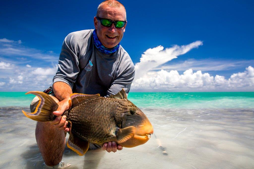 Alphonse Island Seychelles fishing Aardvark McLeod yellowmargin triggerfish