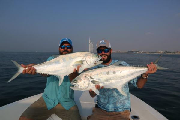 Fly fishing Dubai, UAE, Aardvark McLeod, shad, queenfish, GT, milkfish, golden trevally, permit