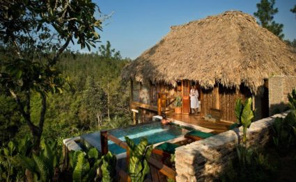 Blancanaeaux Lodge, Belize, gardens and river, Aardvark McLeod, Belize holiday, family holiday, honeymoon