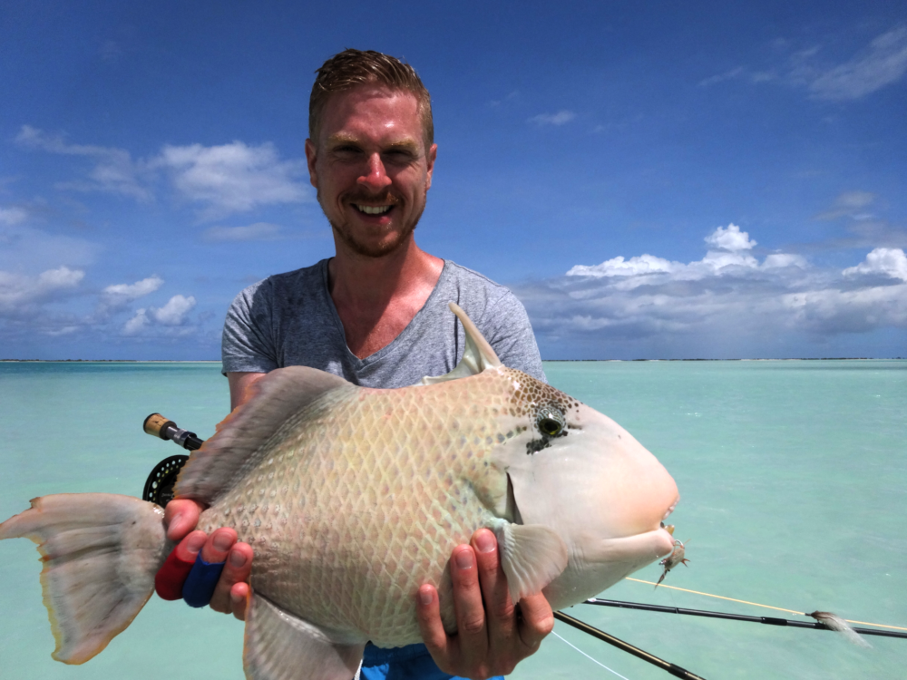 Christmas Island, yellowmargin triggerfish, moustache triggerfish, titan triggerfish, bonefish, GT, giant trevally, milkfish, fishing, Kiribati
