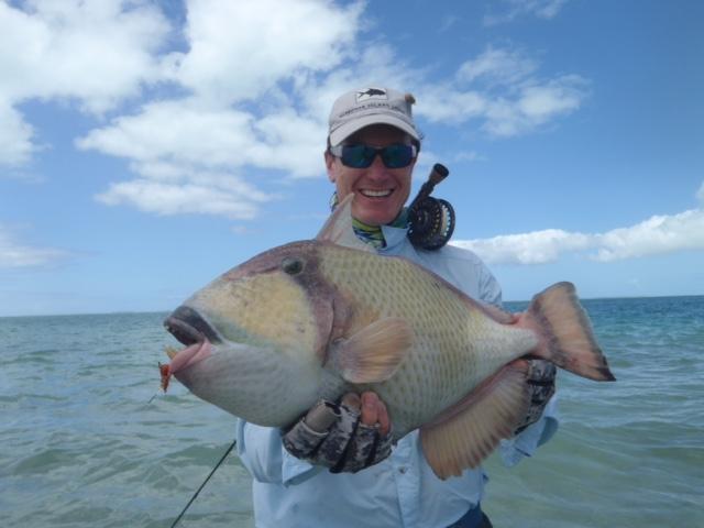 Christmas Island, yellowmargin triggerfish, moustache triggerfish, titan triggerfish, bonefish, GT, giant trevally, milkfish, fishing, Kiribati