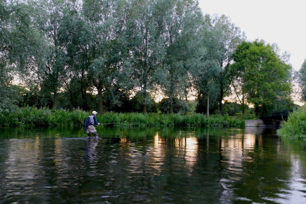 Charles Jardine, River Test, Fly fishing, Aardvark McLeod. Uk guiding, Chalkstream, dry fly fishing