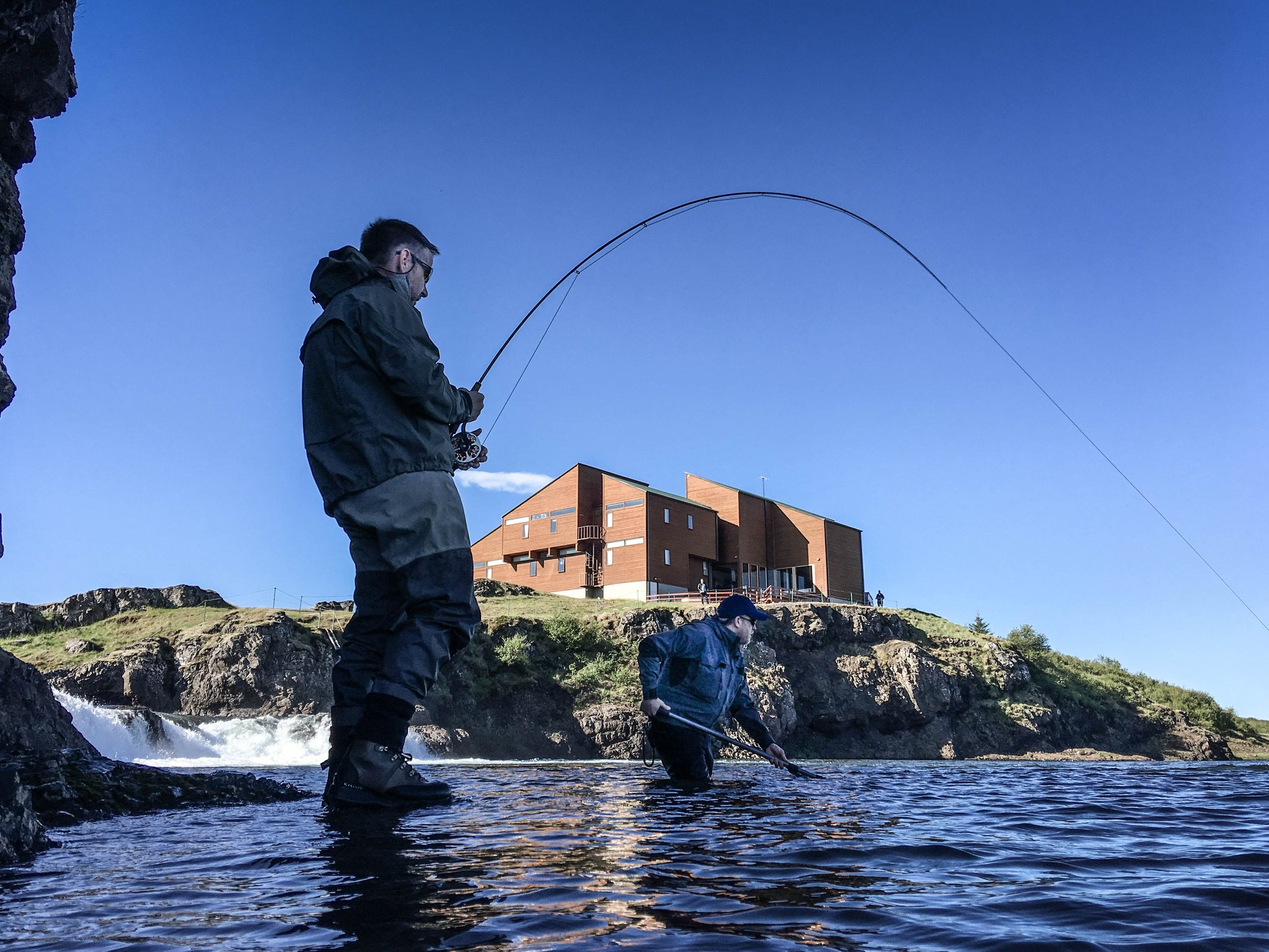 Atlantic salmon, Grimsa, Iceland, Aardvark McLeod