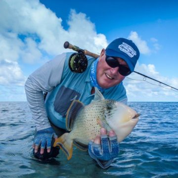 ardvark McLeod Alphonse Island Seychelles yellowmargin triggerfish on fly
