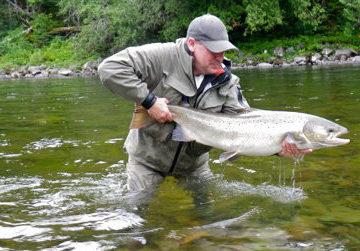 salmon lodge, camp bonaventure, fishing salmon canada, atlantic salmon canada, fishing cascapedia, aardvark mcleod
