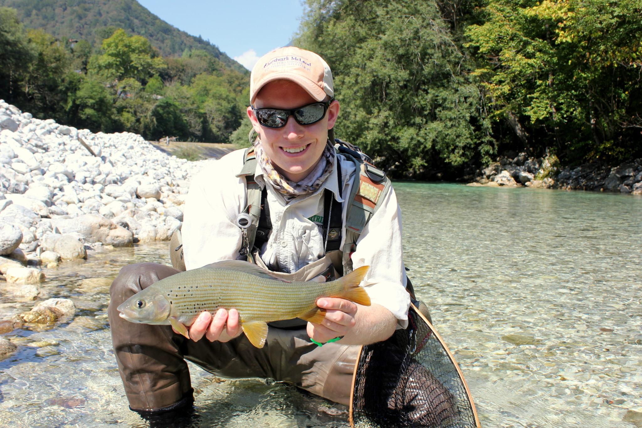 Fly fishing Slovenia, Aardvark McLeod