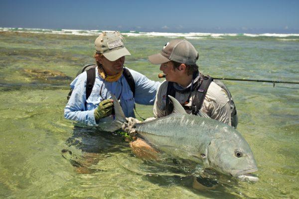 Cosmoledo Atoll, Seychelles, fishing, Aardvark McLeod, giant trevally, GT