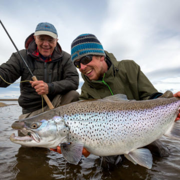 Villa Maria Lodge; sea trout fishing Rio Grande, TDF, Argentina