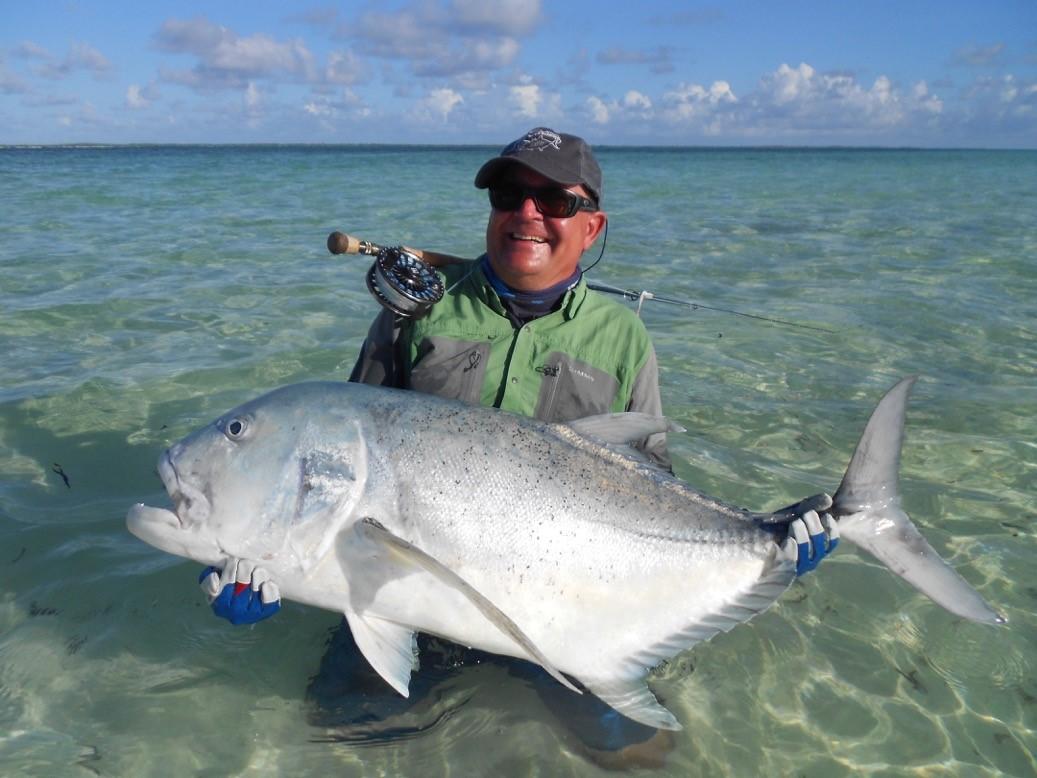 124 cm Giant Trevally, Farquhar Atoll, Seychelles, Aardvark McLeod