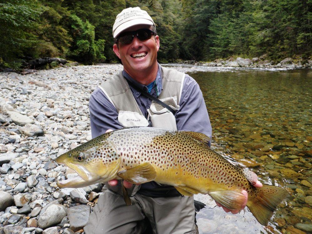 New Zealand, Owen River Lodge, fly fishing