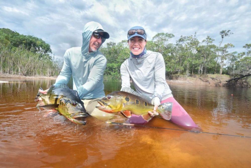 Brazil fly fishing, peacock bass fishing, amazon river, rio marie lodge