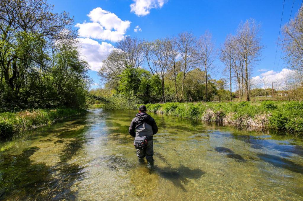 River Lambourn Chalkstream fly fishing, Dry Fly Fishing, Alex Jardine, Aardvark McLeod Dry Fly Fishing