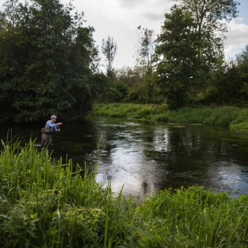 River Itchen chalkstream fly fishing, Aardvark McLeod chalkstream fly fishing