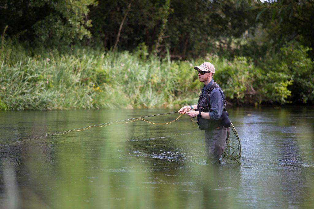 River Itchen chalkstream fly fishing, Aardvark McLeod chalkstream fly fishing